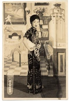 Chinese American actresses wearing qipao/cheongsam, 1920-29