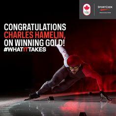 CONGRATULATIONS CHARLES HAMELIN ON WINNING GOLD! #WHATITTAKES #WEAREWINTER