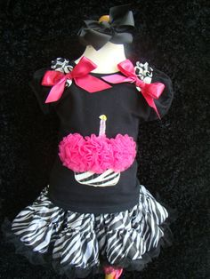 Zebra Cupcake Shirt by chubbycheekbaby on Etsy, $14.00