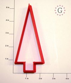 4.5 Triangle Tree Cookie Cutter by GingerbreadCutterCo on Etsy, $6.00