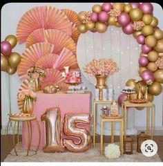 16th Birthday Decorations, Sweet 16 Decorations, Balloon Decorations Party, Star Decorations, Cousin Birthday, Ideas Para Fiestas, Quinceanera, Engagement Photos, Stitch Patterns