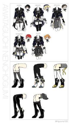 埋め込み Fashion Design Drawings, Fashion Sketches, Character Outfits, Character Art, Anime Outfits, Cute Outfits, Drawing Anime Clothes, Estilo Lolita, Anime Dress