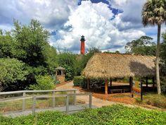 #jupiter #lighthouse #museum #ambient #nature #coast #clouds #hot #warm #weather #thingstodo #sky #clouds #amazing #tree #palm #bluesky #redtower #walk #tour #tiki #bohio #bridge