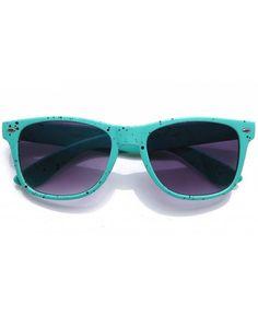 945c47a7ba4c Vintage Wayfarer Style Retro Speckled Frame Spots Comfortable Sunglasses -  Teal - CD11DNZ1HSP