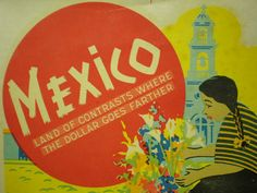 Vintage travel sticker Mexicio