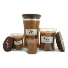 Biscotti WoodWick Candle~I burn these throughout the year. Love burning them in living room and kitchen