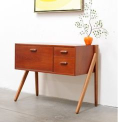 Mid Centuy Danish Modern TEAK Entry Chest Table