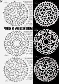 Best 12 PP said: Note to self- crochet these with huge hook, would look great really big. I say: Why the hell not – Page 736971926492505539 – SkillOfKing. Crochet Circles, Crochet Doily Patterns, Crochet Round, Crochet Chart, Crochet Squares, Crochet Home, Thread Crochet, Love Crochet, Filet Crochet