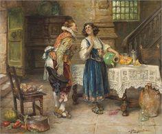 """The Flirtation"" ... by Alex de Andreis 1880-1929"