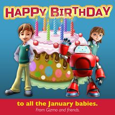 Were you born in January? Gizmo and the Superbook Team would like to wish you a very Happy Birthday! Tell us below if you're a January baby!