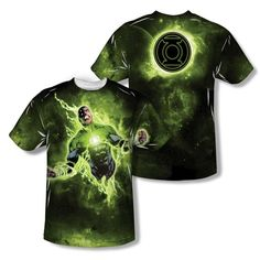 Green Lantern WHITE LANTERN ENERGY 2-Sided Sublimated Big Print Poly T-Shirt