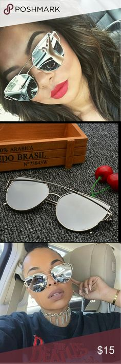 NEW SILVER MIRRORED CHIC SUNGLASSES NEW SILVER MIRRORED CHIC SUNGLASSES METAL FRAME (excellent quality)   DUST BAG INCLUDED  See anything else you like in my closet!!! Jus  ask me and I'll make you a listing with a  discount.  Se habla espa?ol ? Accessories Sunglasses