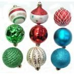 101 shatter-resistant ornaments for only $25! Can't beat that!    Martha Stewart Living Christmas Collectibles 2 in. Red, Green, Blue, and White Ornaments (101-Set)