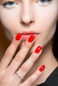 Bold, cherry red will always be a classic when it comes to nail color options. Try the bright, sexy hue on your next date to make a flirty statement.