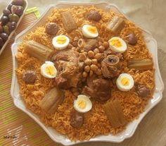 Tlitli algérien,agneau,boulettes et oeufs durs