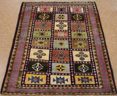 4 x 5 Persian GABBEH Tribal Hand Knotted HANDSPUN Wool NATURAL Dyes Oriental Rug #Unbranded #PersianGabbehTribalNaturalVegetableDyes
