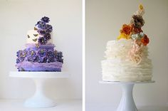 Beautiful ruffled cakes from Maggie Austin Cakes