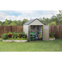 Rubbermaid Big Max Storage Shed 7x7 Gardening