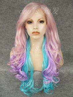 lolita wig lolita pastel colored wig fairy princess by chichair 9600 - Colored Wig