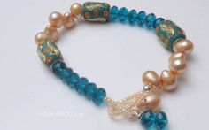 Armbänder - Süsswasserperlen Armband mit Kashmiri Perlen - ein Designerstück von ASKAWO-Design bei DaWanda