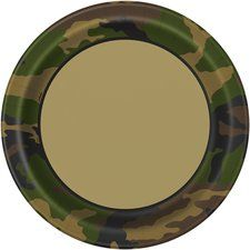 Military Camo Party Lunch/Dinner Plates (8 ct)