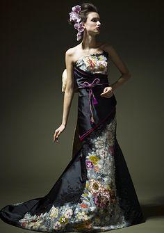 ジャフィー/レンタル India Fashion, Japan Fashion, Kimono Fashion, African Fashion, Women's Fashion, Wedding Kimono, Applique Dress, Kimono Dress, One Piece Dress