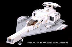 https://flic.kr/p/pdC6TC | Heavy Space Cruiser | This spaceship is equipped with two photon cannon, two twin lasers and of course - hyperdrive!