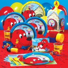 Clifford the Big Red DOG Licensed Theme  http://www.celebrateexpress.com/Clifford-The-Big-Red-Dog-Party-Supplies/80341/PartyKitDetail.aspx