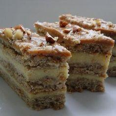 Sero-orzechowiec z masą krówkową (autor: agnieszkab) - DoradcaSmaku. Polish Desserts, Polish Recipes, No Bake Desserts, Sweet Recipes, Cake Recipes, Bowl Cake, Different Cakes, Sweet Cakes, Savoury Cake