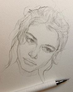 art drawings Sketch By Reina Yamada. Reina Yamada is an artist who works actively in Japan. Continue Reading and for more art View Website Cool Art Drawings, Pencil Art Drawings, Art Drawings Sketches, Sketch Art, Portrait Sketches, Photo Sketch, Sketch Ideas, Sketch Inspiration, Realistic Drawings