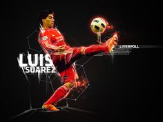 Luis Suarez - Uruguay world cup player at Liverpool poster graphic