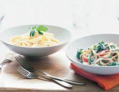 good ideas for school pasta bar =d