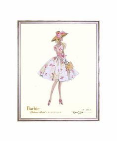 Limited Edition Garden Party Barbie Art Print