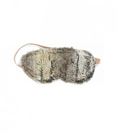 A luxe, fur eye mask // Sonoma Lavender Timber Sleep Mask