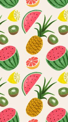 26 Ideas fruit wallpaper iphone fruit wallpaper iphone tropical for 2019 Illustration Inspiration, Fruit Illustration, Pattern Illustration, Pineapple Illustration, Fruit Pattern, Pattern Art, Pattern Design, Pineapple Wallpaper, Watermelon Wallpaper