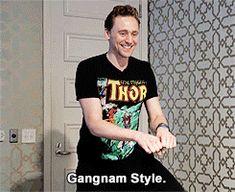 I present Tom Hiddleston dancing