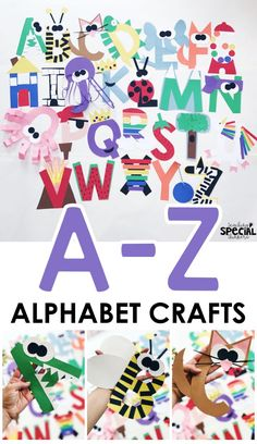 Need fun letter of the week activities? Check out these easy letter craft for toddlers, preschool, or kindergarten to help kids to learn about the alphabet. #abcactivities #letteroftheweek