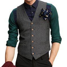 British Style Checked Vest