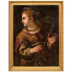 17th c. Italian Oil on Canvas Painting of 'Minerva,' Manner of Paolo Veronese | 1stdibs.com