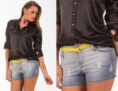Pode até parecer uma informação desnecessária, mas acredite, nem toda mulher sabe como usar um short jeans.