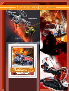MLD17104b Fire engines (Rosenbauer PANTHER fire truck) Fire Engine, Fire Trucks, Maldives, Panther, Video Game, Stamps, Engineering, Comic Books
