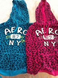 2 Cheetah Print Areopostale Hoodies (Size XL)