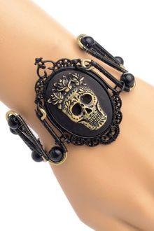 Floral Skull Bracelet