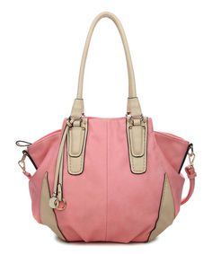 Another great find on #zulily! Pink Deborah Patchwork Shoulder Bag by Amore #zulilyfinds