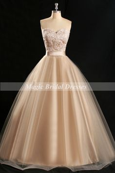 Pearl Pink Champagne Prom Dress Classical Ball Gown Design Sweetheart Lace Appliques Women Prom Dresses Floor-length Quinceanera Dress Sweet by MagicBridalDresses on Etsy