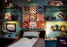 Not only toddlers and little boys could get a car themed bedroom but even teens too!