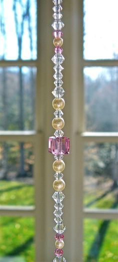 Diamond Twist Swarovski Crystal Suncatcher by HeartstringsByMorgan