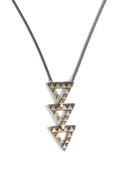 Triangle Stack Necklace.