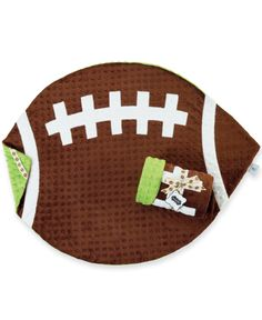 Football Shaped Baby Blanket So cute for a little boy