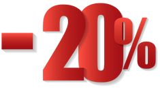 -20% Off Sale PNG Clipart Image